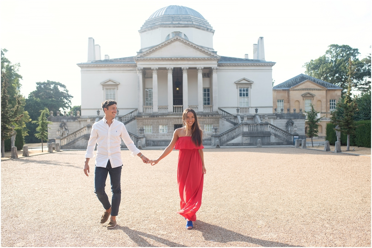Fine art Chiswick House London pre wedding photography