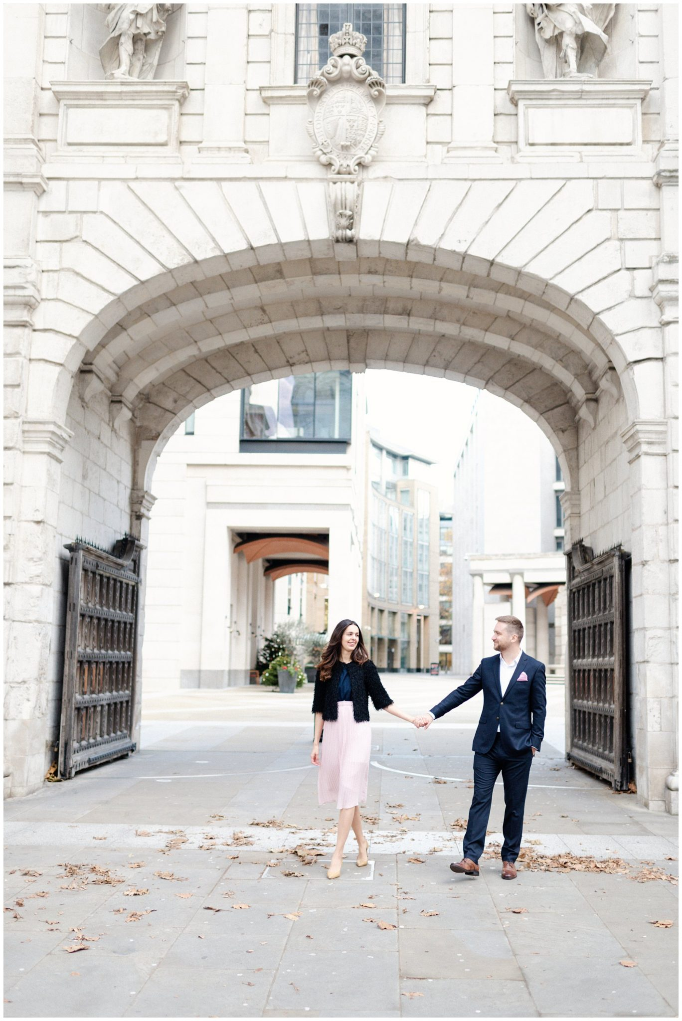 Fine art London Engagement Shoot by St Pauls Cathedral