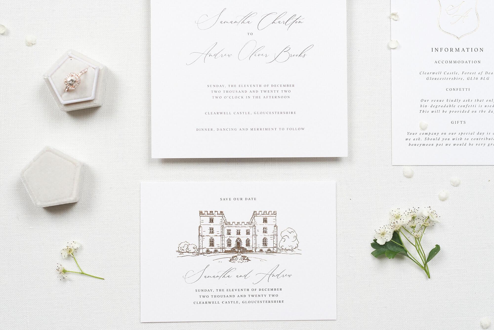 Bespoke Luxury foiled wedding stationery
