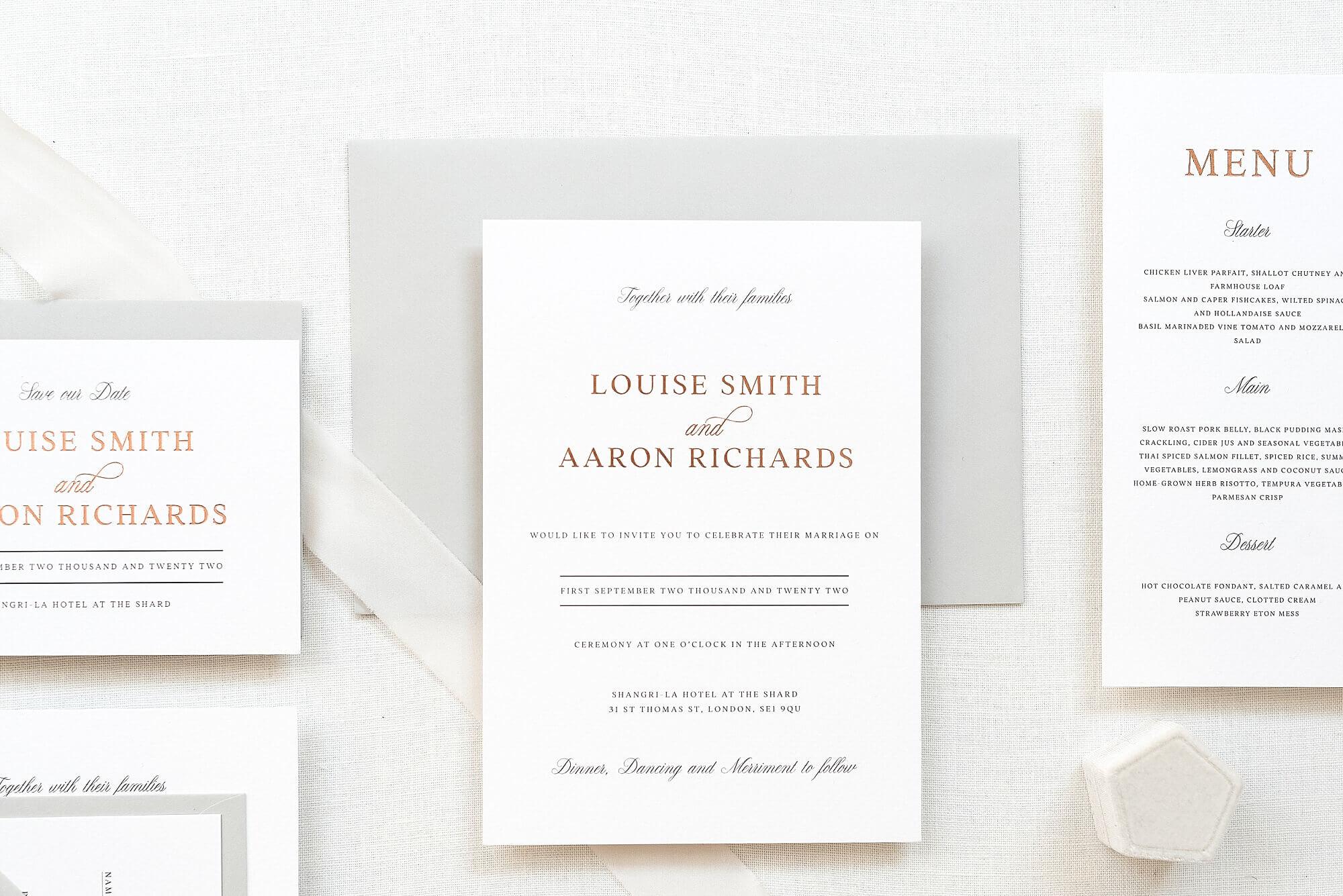 beautiful UK wedding stationery