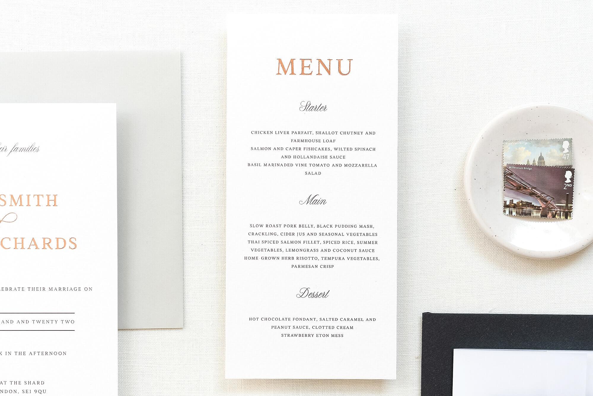 luxury wedding stationery studio The Bridal Paperie