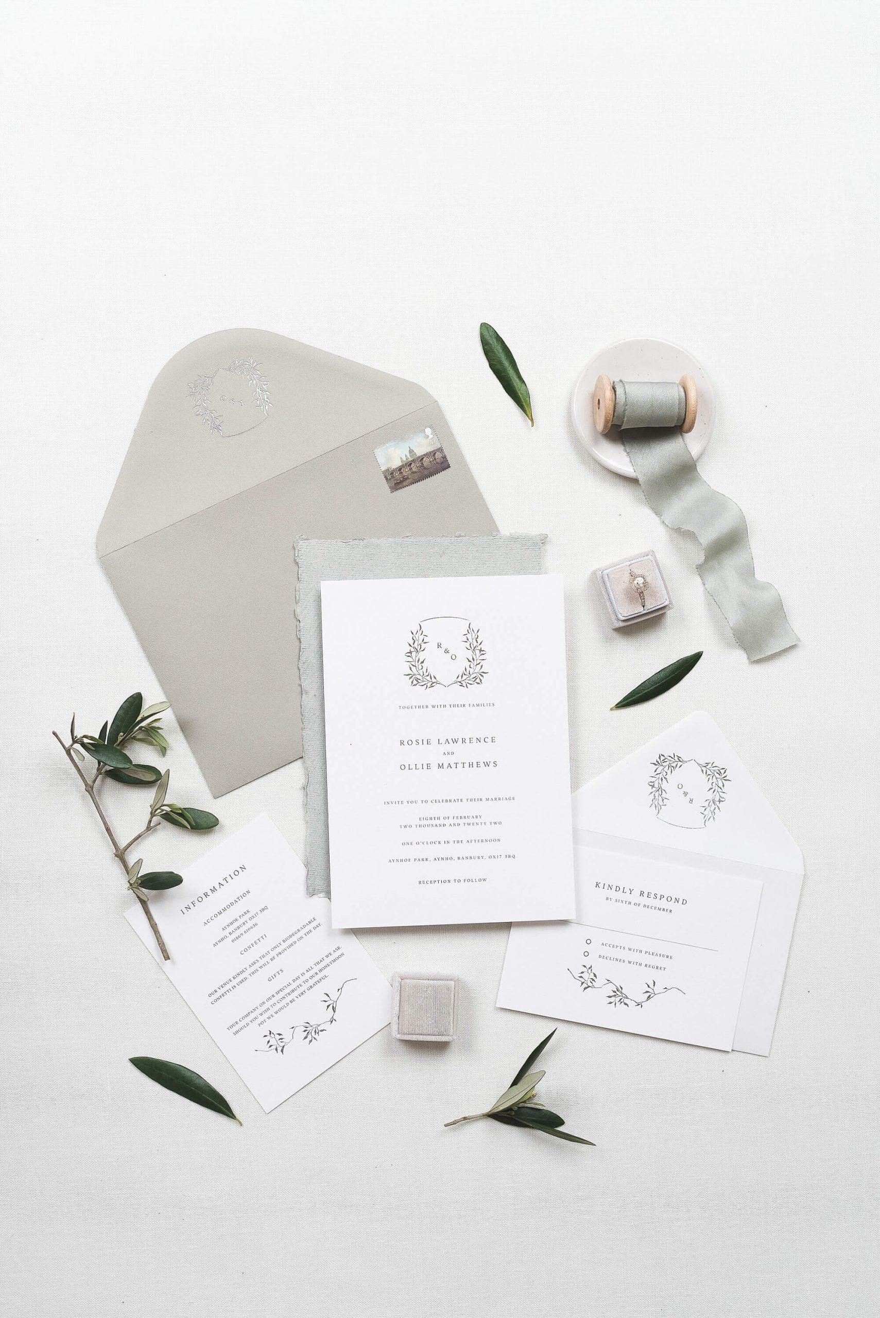 luxury wedding stationery studio UK