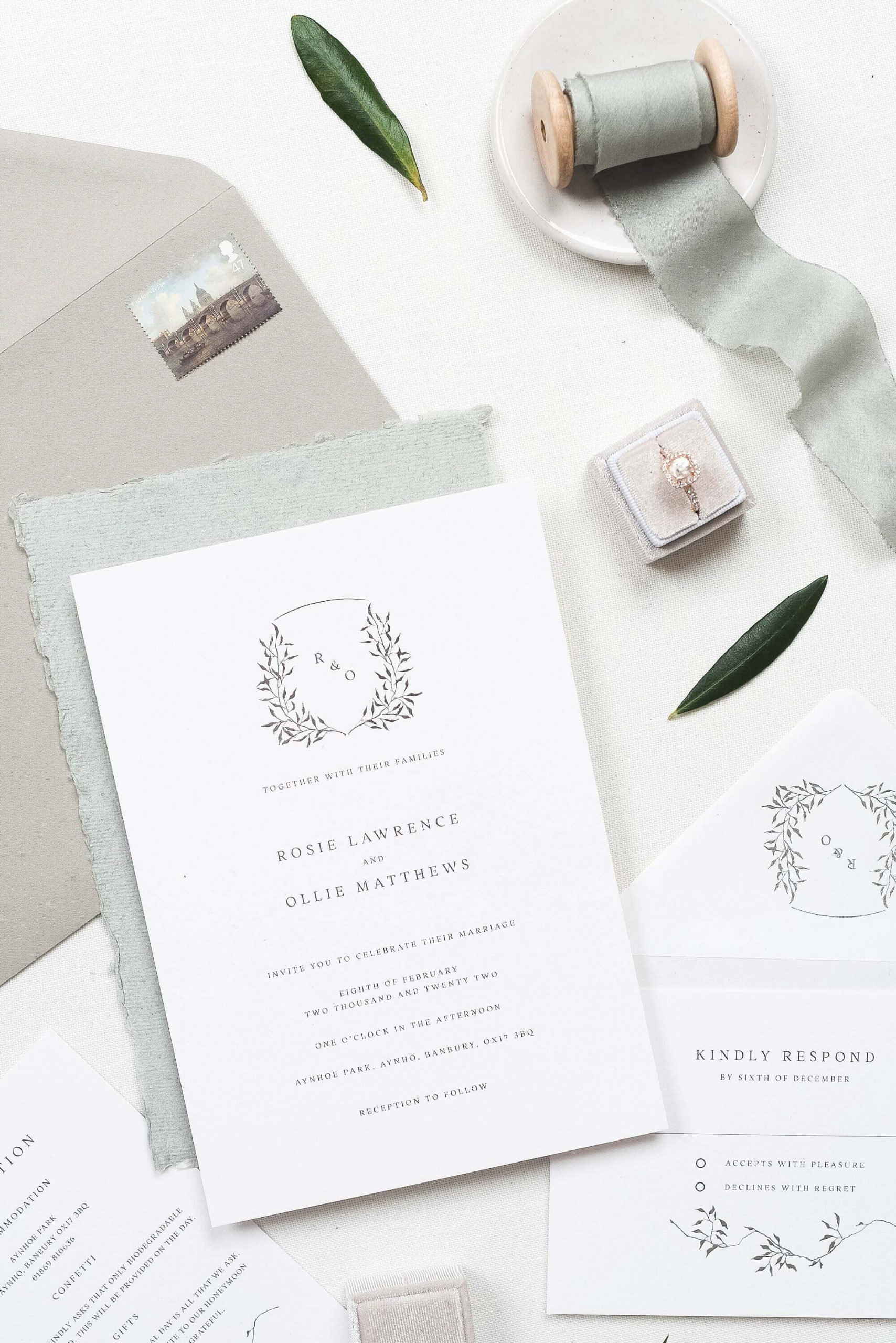 wedding stationery collection by The Bridal Paperie