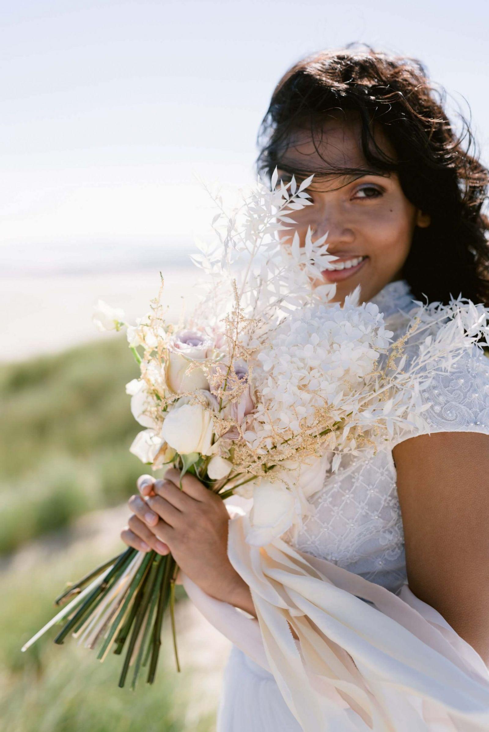 romantic seaside wedding editorial
